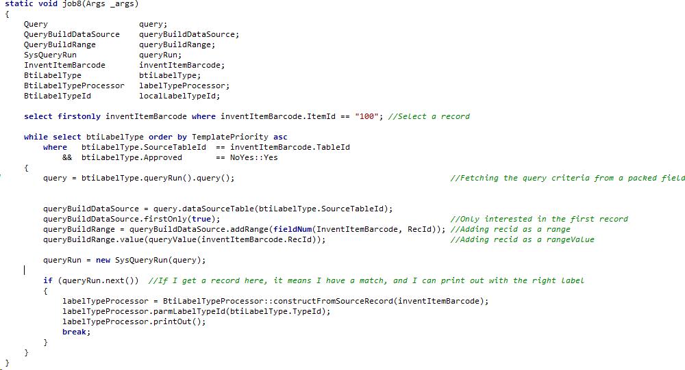 AX2012 : Use queries as criteria – Kurt Hatlevik – Dynamics