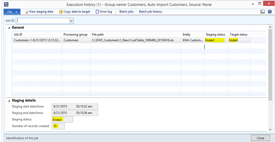 DAX2012R3CU9 – DIXF – Automate import/export without