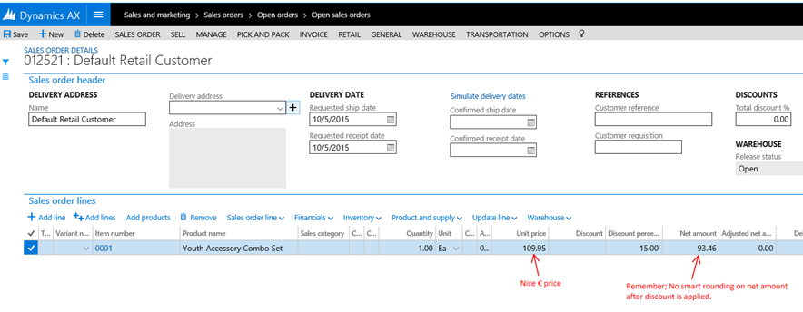 New Microsoft Dynamics AX – A guide for using retail sales