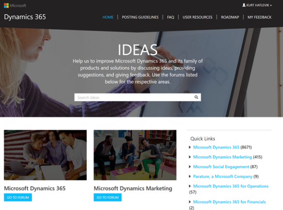 Dynamics 365 ideas